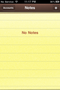 Notes - iPhone 1
